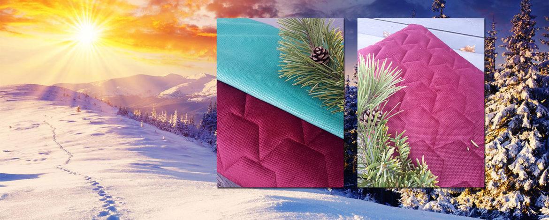 Zimowe wzory na tkaninach dziecięcych
